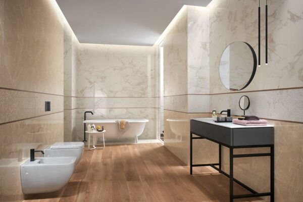 L'illuminazione del bagno